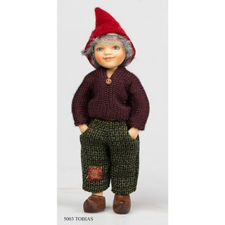 Birgitte Frigast / Porcelain doll Tobias, 15 cm