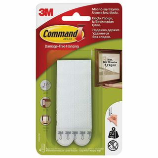 COMMAND / Clip-on holders for paintings large white, SET 4 pcs.