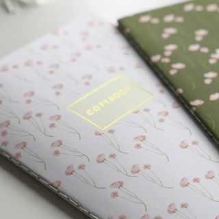"Notebook EURO A5 40 sheets BRUNO VISCONTI stitching, cage, Soft Touch, beige paper 70 g / m2, ""MAKI ON WHITE"""