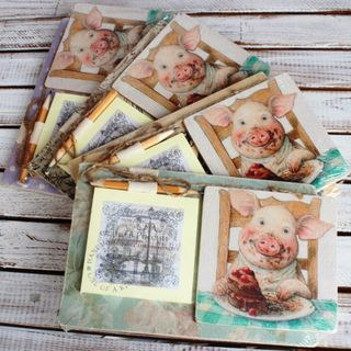 Souvenir handmade fridge magnet with recording unit Svinskaya Joy mix