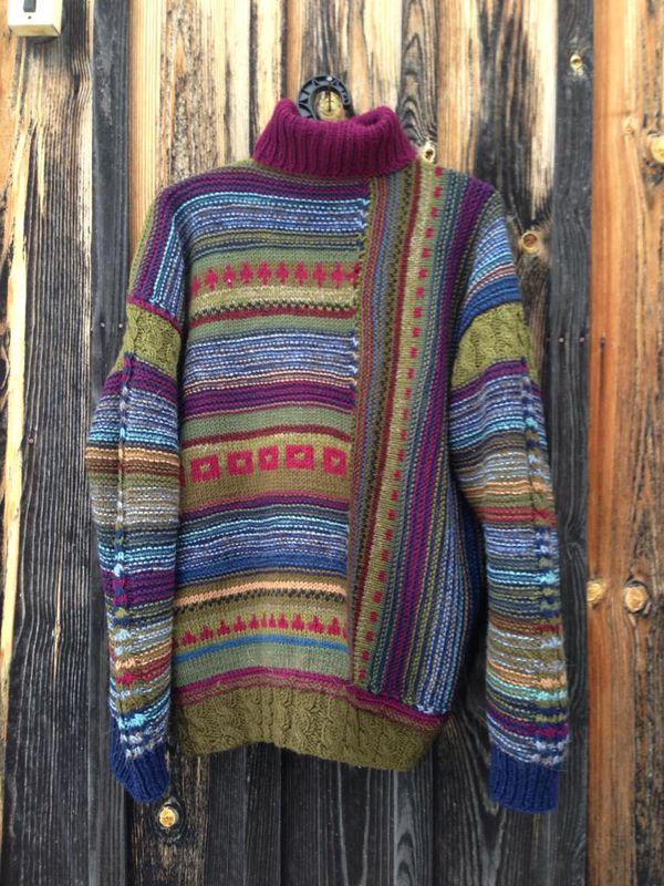 Men's sweater, handmade