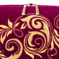 Velvet Cosmetic Bag 'Falling Leaves'