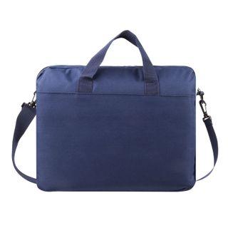 Business bag for documents made of fabric with zipper, 37х32х5 cm, blue, ROSE
