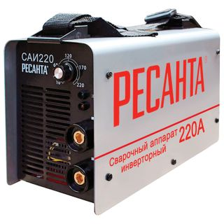 Welding machine inverter SAI 220 RESANTA, welding current up to 220 A, electrode diameter up to 5 mm