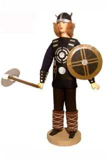 Doll gift. Viking with an ax. Northern Europe. 8-11 centuries the Normans.