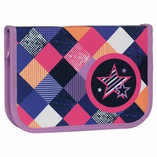 Pencil case TIGER FAMILY 1 compartment, 1 flap strap, cloth,
