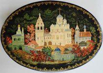 Kholui art lacquer miniature Pokrovsky Monastery