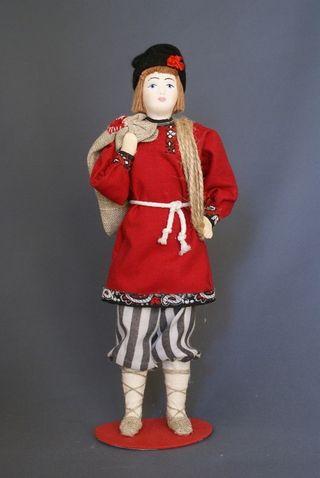 Doll gift porcelain. Balda. Fairy tale character
