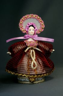Doll gift porcelain. Box.