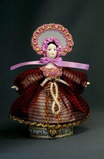 Doll gift porcelain. Box.