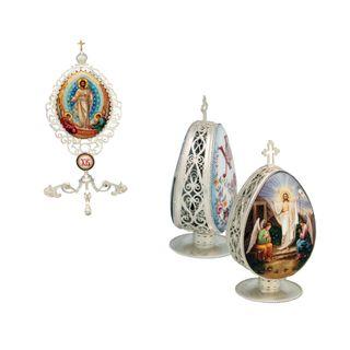 Rostov enamel / Easter egg with biblical stories