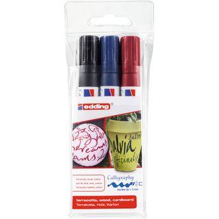 Edding / Calligraphy marker set, flexible nib, 1-5 mm, 3 colors 3 colors