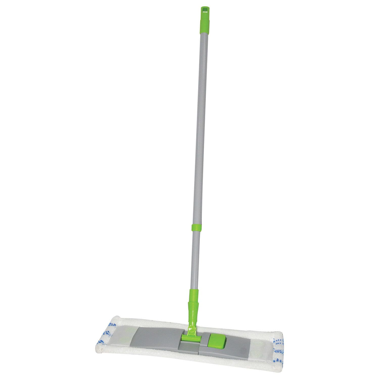 LYUBASHA / Mop with flander 40 cm, telescopic handle 120 cm, thread 1.6 cm, microfiber / abrasive (type K)