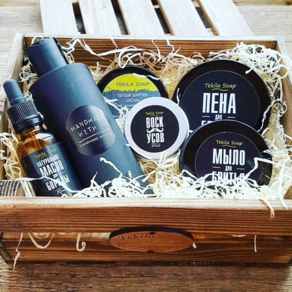 Gift set for men in a branded wooden box!