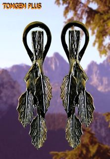 Birch earrings in silver 925 with black rhodium and gilding