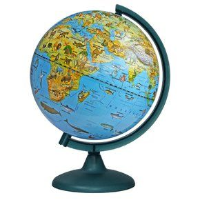 Zoogeographical Globe 250mm on a plastic stand