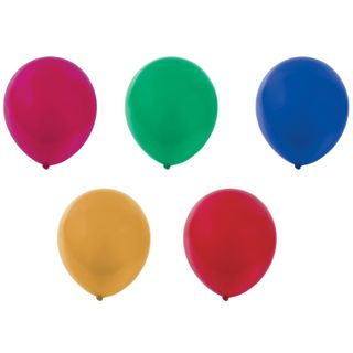 """GOLDEN FAIRY TALE / Balloons 10 """"(25 cm), SET of 10 pieces, metallic, assorted 5 colors, package"""
