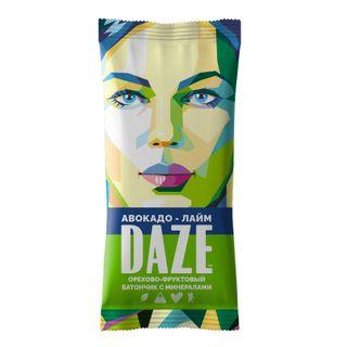 DAZE Avocado - lime walnut-fruit bar