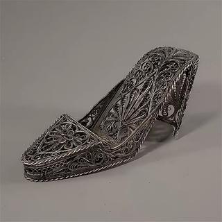 """Souvenir """"Shoe"""", Kazakov filigree, silver plating"""