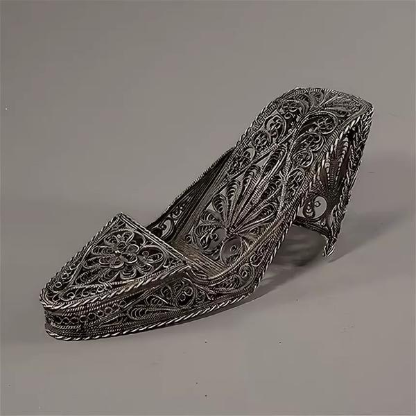 """Kazakovskaya Filigree / Souvenir """"Shoe"""" silvering"""