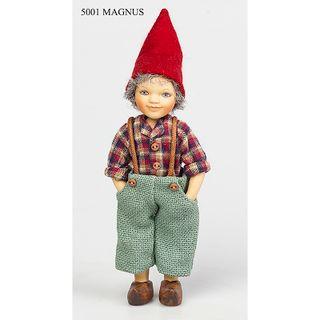 Birgitte Frigast / Porcelain doll Magnus, 15 cm