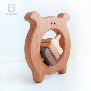 "Shaking ""Bukashka"" - developing children's wooden toy"