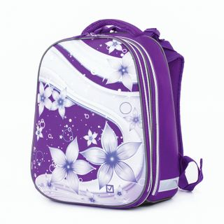 Satchel BRAUBERG EXTRA, 2 compartments, anatomic back, extra volume for girls,