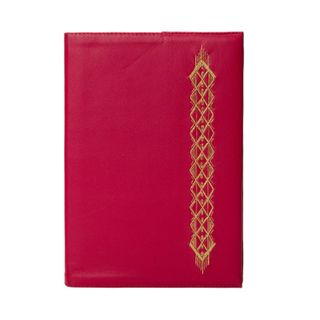"""The daily """"Netting"""" red color with Golden embroidery"""