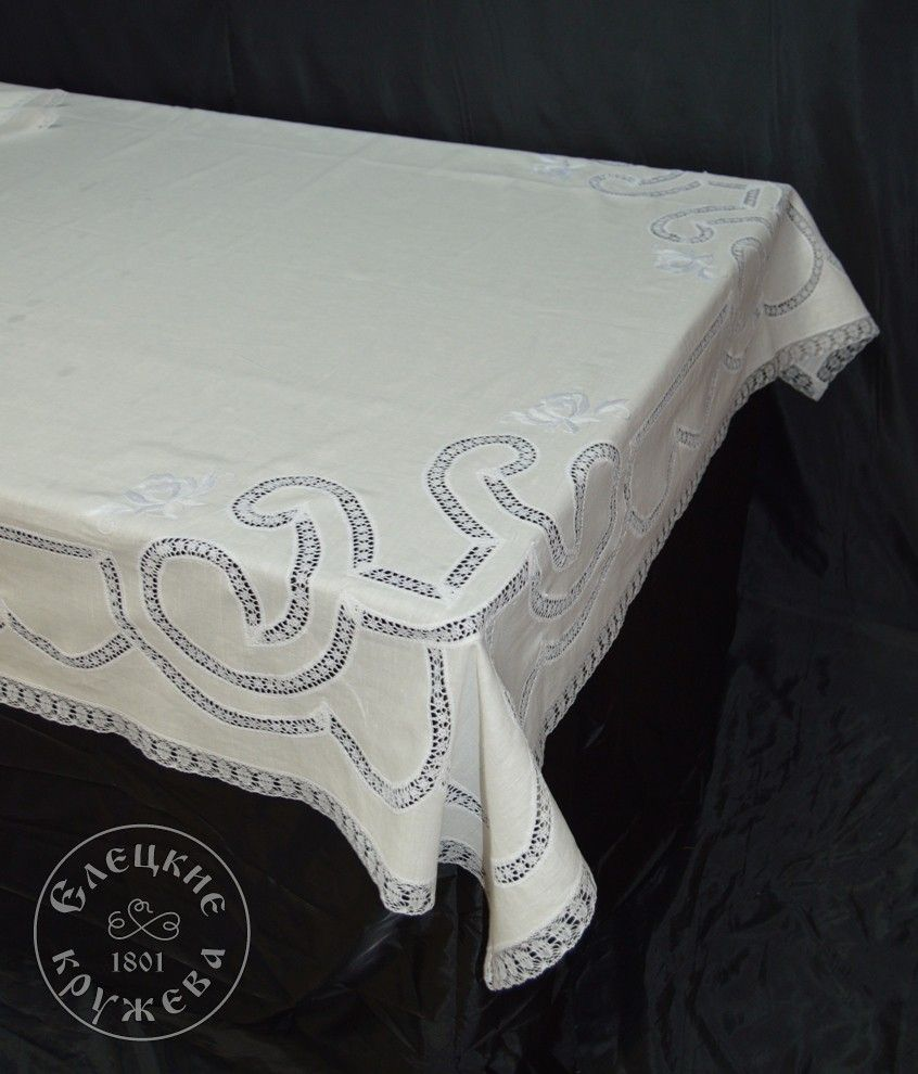 "Yelets lace / Table set ""Tablecloth and napkins"" С1352"