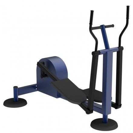 MB Barbell / Outdoor cardio machine for all muscle groups with an inertialess load mechanism