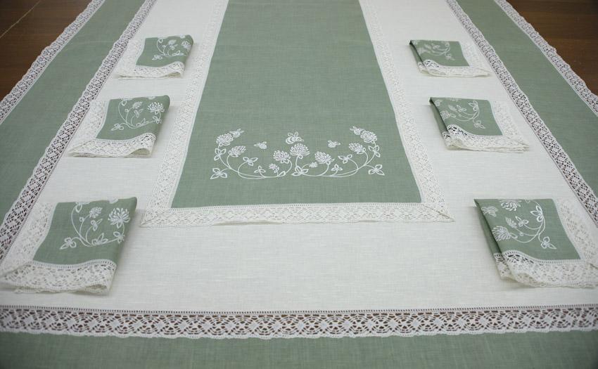 "Set of table linen ""Clover"""