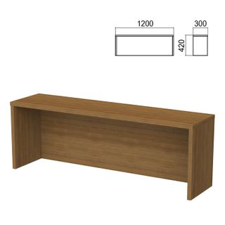 Argo table add-on, 1200 mm wide, walnut