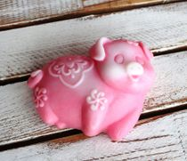 Handmade soap Pig Fun mix of colors and scents