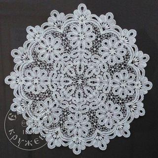 Lace tablecloth, diameter 72 cm