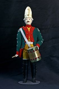 Doll gift. Drummer Military uniform. early 19th century Russia.