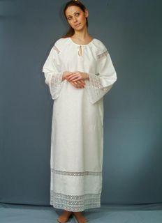 Baptismal chemise womens flax