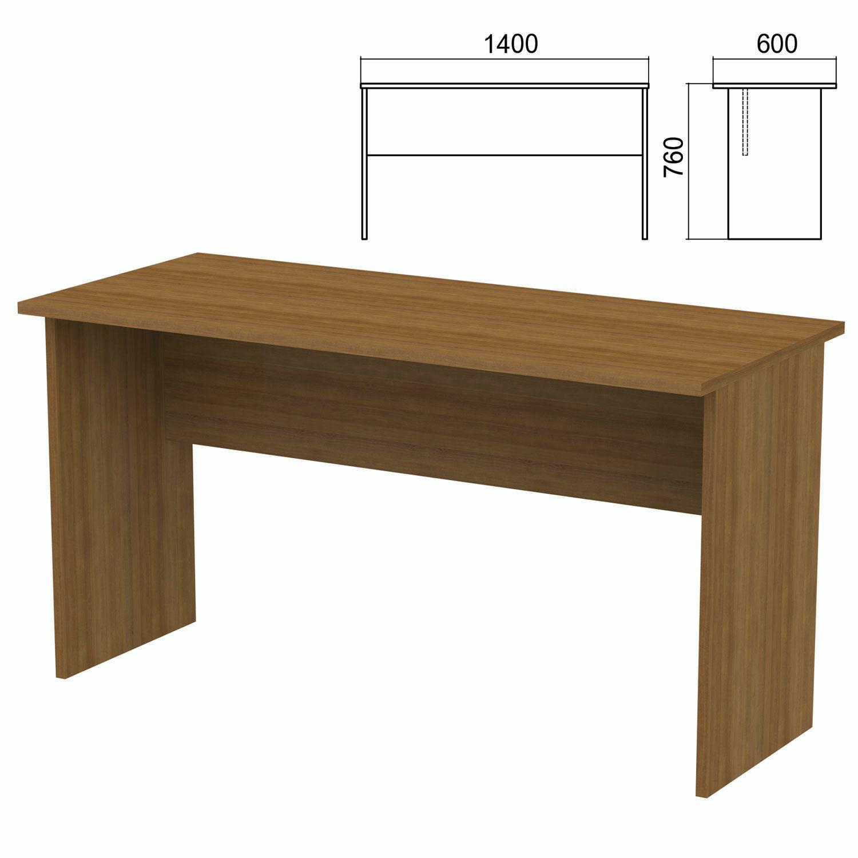 "Table written ""Argo,"" 1400 x600 x760 mm, walnut"