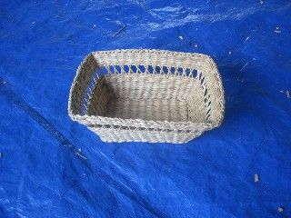 Wicker baskets for table setting