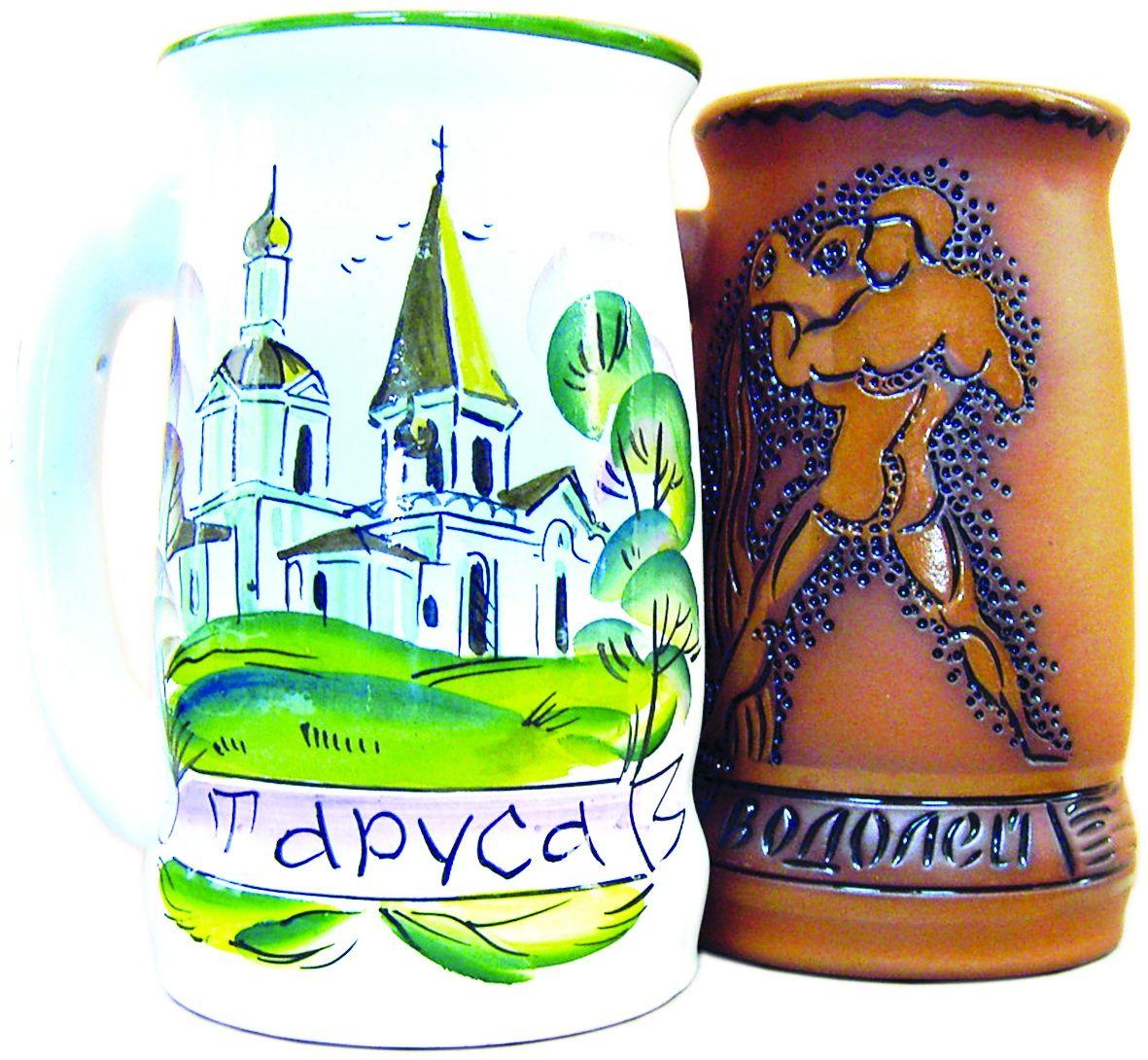 """Tarusa artist / Beer mug """"Bath / Zodiac / Russia"""", 1L"""
