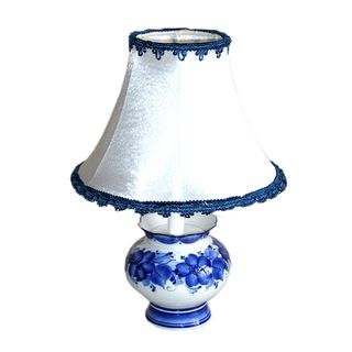 Lamp flower lamp shade baby white, Gzhel Porcelain factory