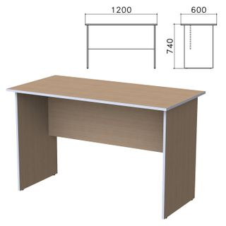Budget table, 1200 x600 x740 mm, Ontario nut