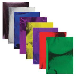 Cardboard color, A4, MIRROR, 8 sheets 8 colors, 180 g/m2, TREASURE ISLAND, 210x297 mm