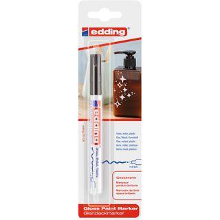 Edding / Marker varnish glossy, round nib, 1-2 mm, blister Black
