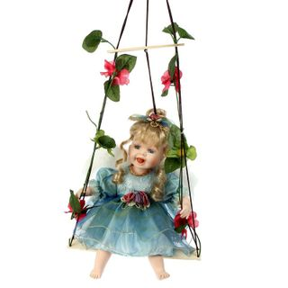 """Porcelain doll """"Little Activity on the swing"""""""