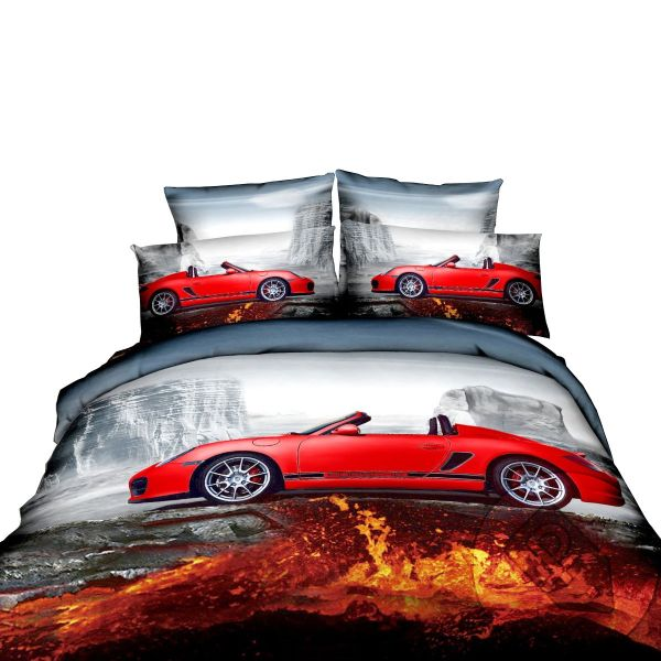 Satin bed linen 3D volcano