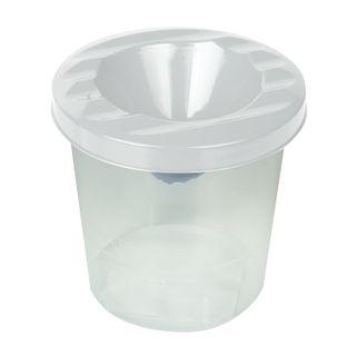The glass-pot PYTHAGORAS, white, transparent