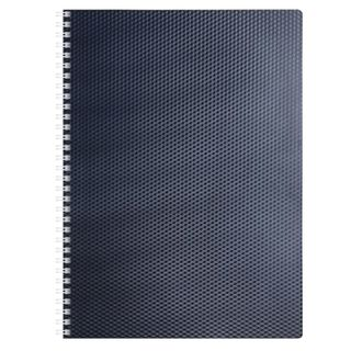 Notebook A4, 80 sheets, HATBER, comb, cage, plastic cover,