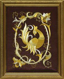 Mural 'Bird PAVA' brown, Torzhok seamstresses