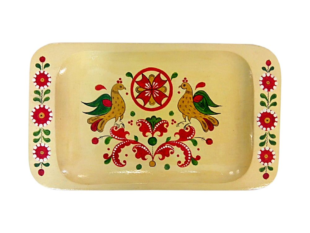 "Tray wooden ""Severodvinsk painting"""
