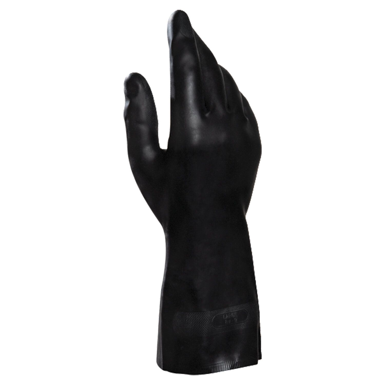 MAPA / Gloves latex-neoprene Technic / UltraNeo 401, cotton dusting, size 10 (XL), black